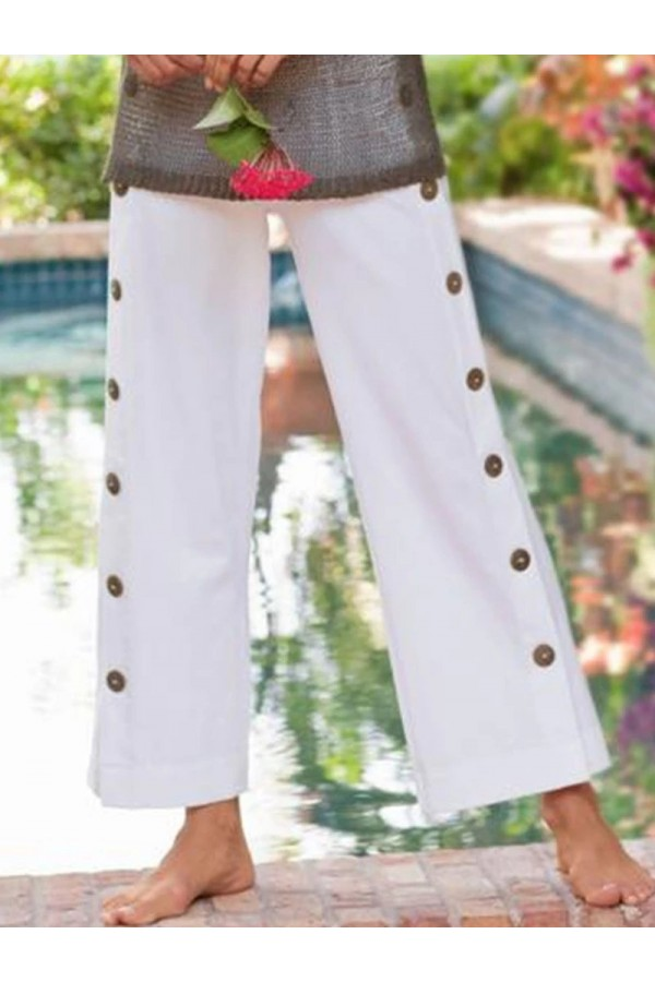 WOMEN NEW BUTTONED PANTS
