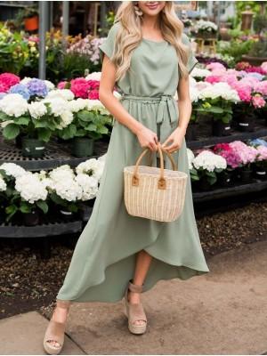 Pure Fairy Temperament Lace Maxi Dress