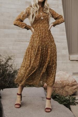 Cornelia Smocked Tiered Maxi Dress