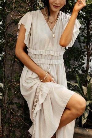Willa Ruffle Maxi Dress