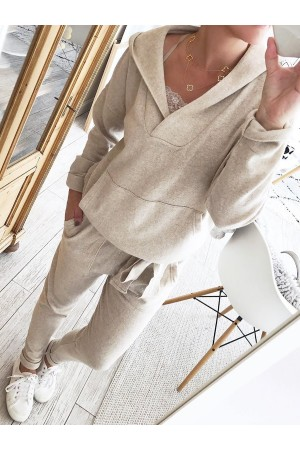 Hoodie Knitted Two Pieces Sets Suits