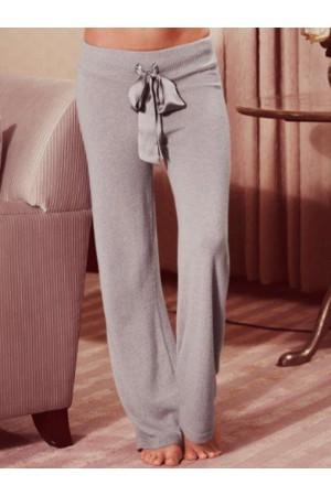 Comfotable Women CottonBlend Solid Casual Pants