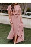 Pure Irregular Hem Maxi Dress