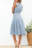 Flounce Design Mid Calf Dress