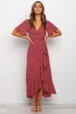 Farina Dress  Wine