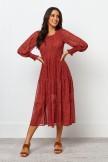 Poet Dress  Red