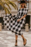 Maddie Buffalo Plaid Maxi Dress