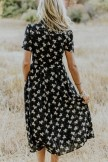 Mary Floral Detail Midi Dresses