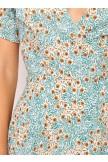 Deep Vneck Wrap Style Floral Midi Dress