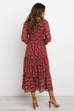 THADDEUS DRESS  RED