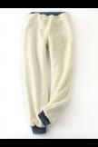 Solid Fleeced Cotton Pants